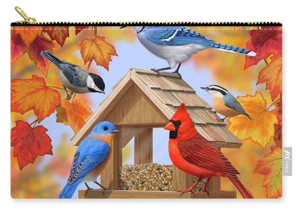 Bird Painting - Autumn Aquaintances Carry-all Pouch