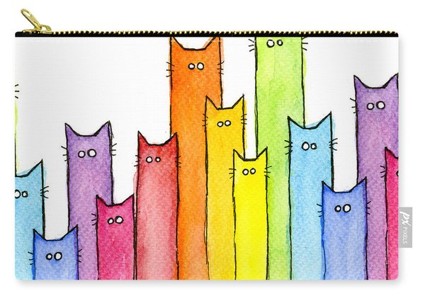 Rainbow Of Cats Carry-all Pouch