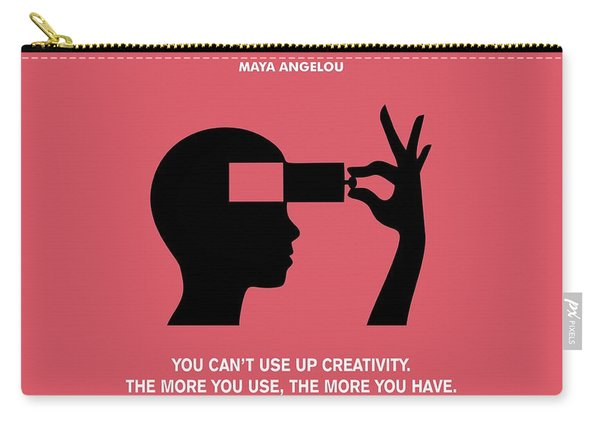 Creativity Maya Angelou Quotes Poster Carry-all Pouch