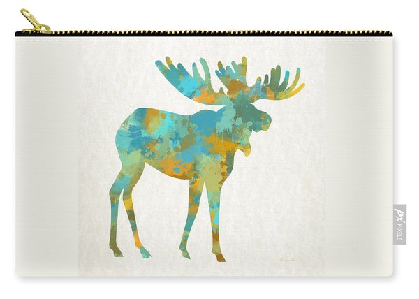 Moose Watercolor Art Carry-all Pouch
