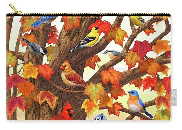Maple Tree Marvel - Bird Painting Carry-all Pouch