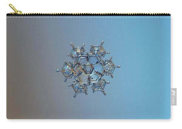 Snowflake Photo - Flying Castle Carry-all Pouch