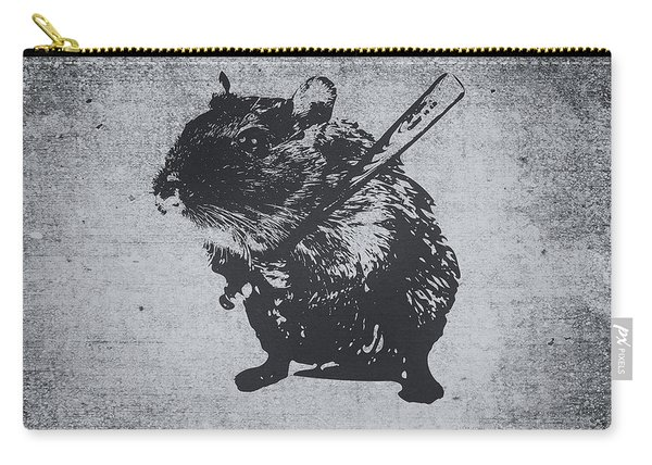 Angry Street Art Mouse  Hamster Baseball Edit  Carry-all Pouch