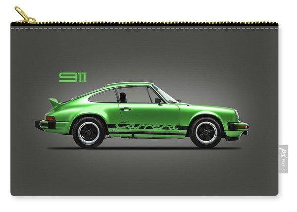 Porsche 911 Carrera Green Carry-all Pouch