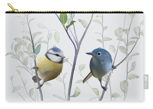 Birds In Tree Carry-all Pouch