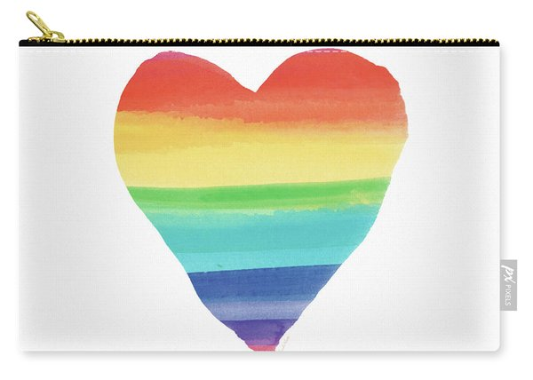 Rainbow Heart- Art By Linda Woods Carry-all Pouch