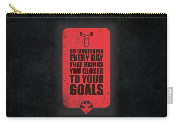 Do Something Every Day Gym Motivational Quotes Poster Carry-all Pouch