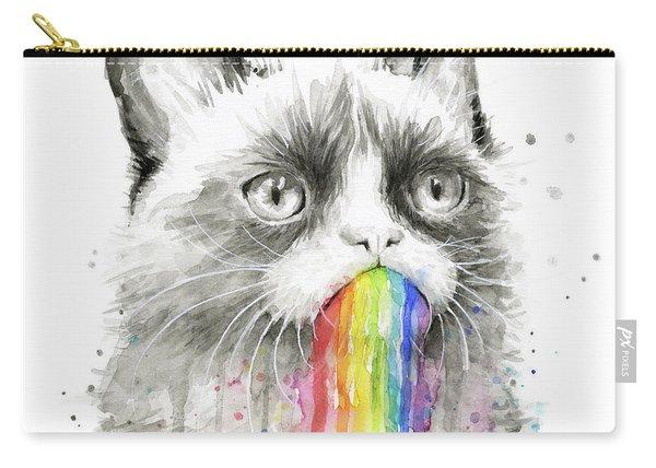 Grumpy Rainbow Cat Carry-all Pouch
