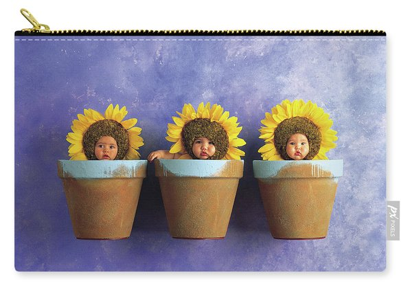 Sunflower Pots Carry-all Pouch