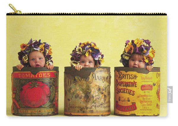 Pansy Tins Carry-all Pouch
