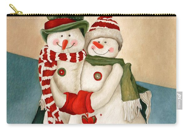 Mr. And Mrs. Snowman Vintage Carry-all Pouch