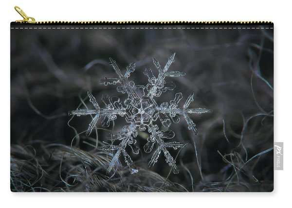 Carry-all Pouch featuring the photograph Snowflake 2 Of 19 March 2013 by Alexey Kljatov