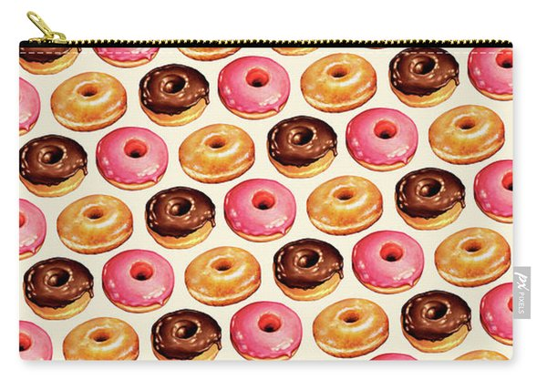 Donut Pattern Carry-all Pouch