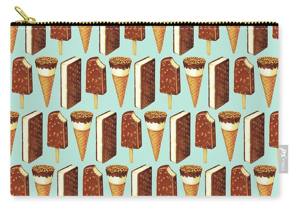 Ice Cream Novelties Pattern Carry-all Pouch