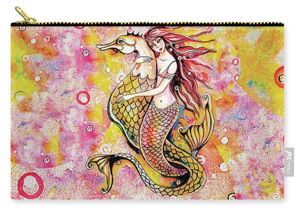 Black Sea Mermaid Carry-all Pouch
