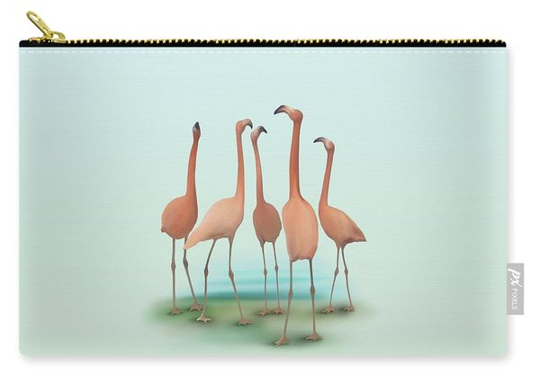 Flamingo Mingle Carry-all Pouch