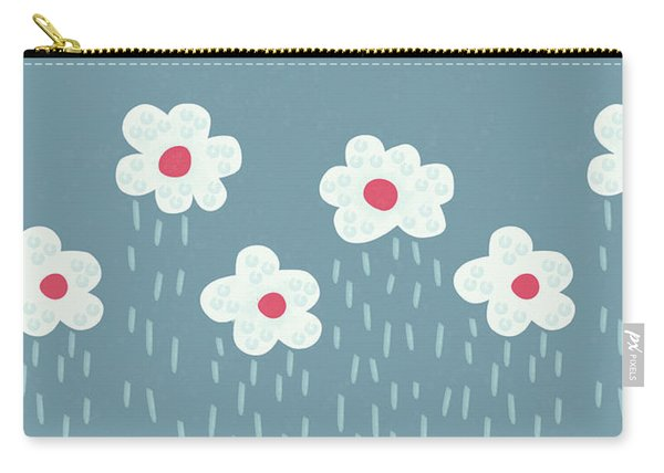 Raining Flowery Clouds Carry-all Pouch