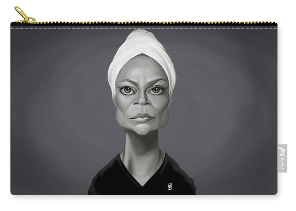Celebrity Sunday - Eartha Kitt Carry-all Pouch