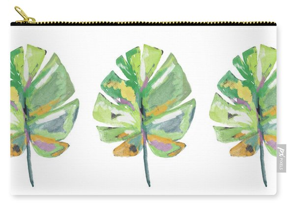 Watercolor Palm Leaf- Art By Linda Woods Carry-all Pouch