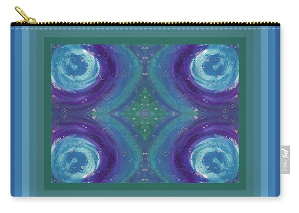Universal Love Green Diamond Quad Carry-all Pouch