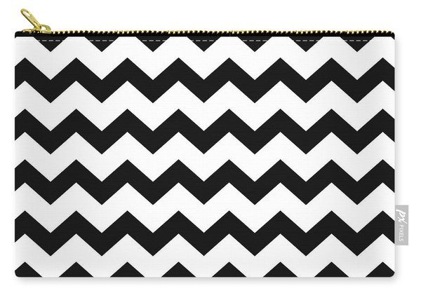 Black White Geometric Pattern Carry-all Pouch