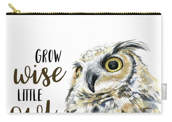 Grow Wise Little Owl Carry-all Pouch