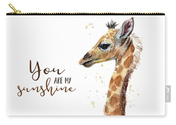 You Are My Sunshine Giraffe Carry-all Pouch