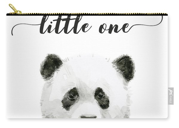 Baby Panda Hello Little One Nursery Decor Carry-all Pouch