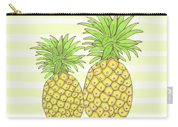 Pineapple Aloha Tropical Fruit Of Welcome Hawaii Carry-all Pouch