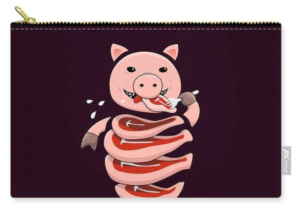 Gluttonous Self-eating Pig Carry-all Pouch