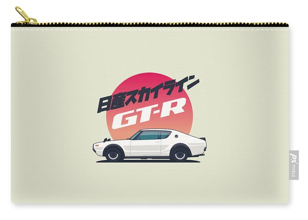 Nissan Skyline Gt-r C110 Side - Portrait White Carry-all Pouch