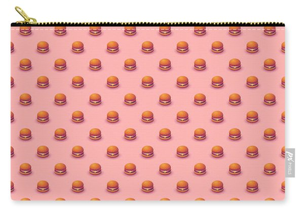Burger Isometric - Plain Salmon Carry-all Pouch