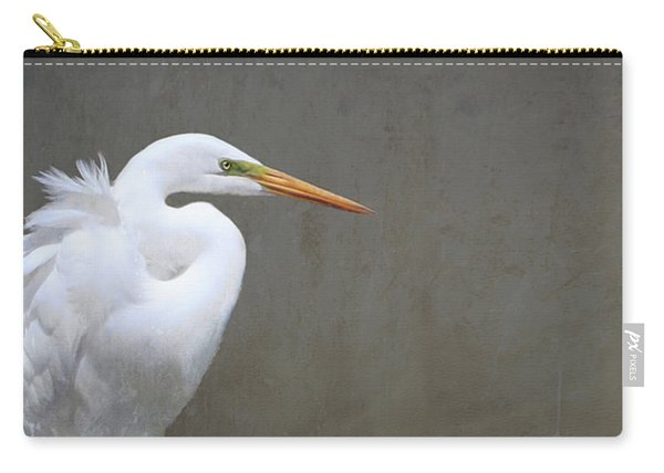 Portrait Of An Egret Rectangle Carry-all Pouch