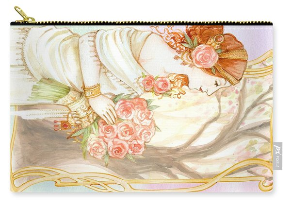 Vintage Art Nouveau Flower Lady Carry-all Pouch