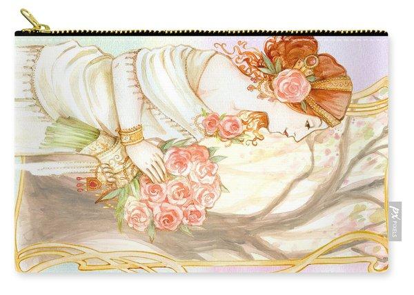 Vintage Art Nouveau Flower Lady Carry-all Pouch