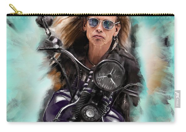 Steven Tyler On A Bike Carry-all Pouch
