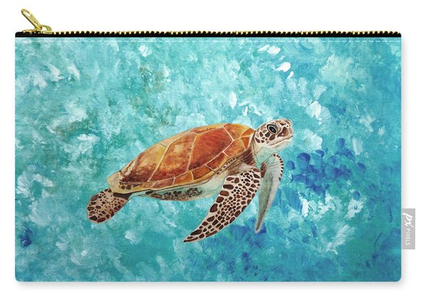 Turtle Swimming Carry-all Pouch