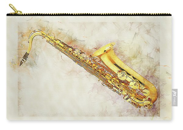 Cool Saxophone Carry-all Pouch