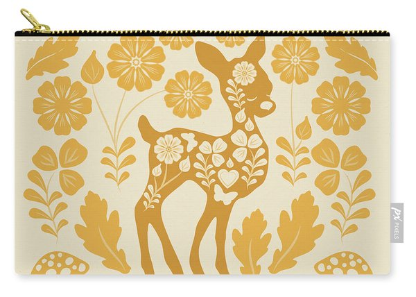Chestnut Woodland Folk Deer Carry-all Pouch