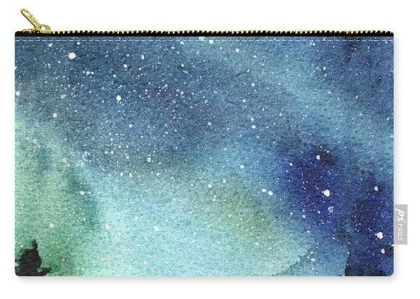 Galaxy Watercolor Aurora Painting Carry-all Pouch