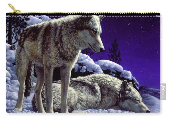 Wolf Painting - Night Watch Carry-all Pouch