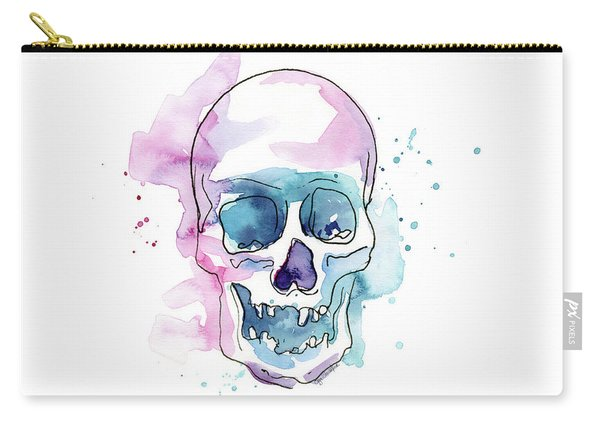 Skull Watercolor Abstract Carry-all Pouch