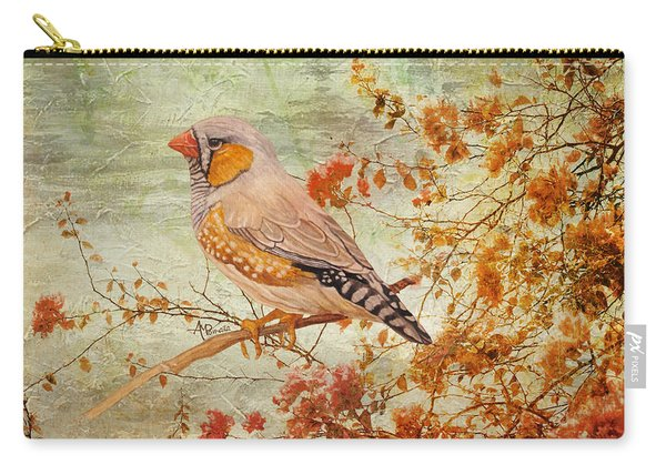 Zebra Finch Among Almond Trees Carry-all Pouch