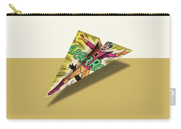 Argh Comics Panel Art 1 Paper Airplane Carry-all Pouch