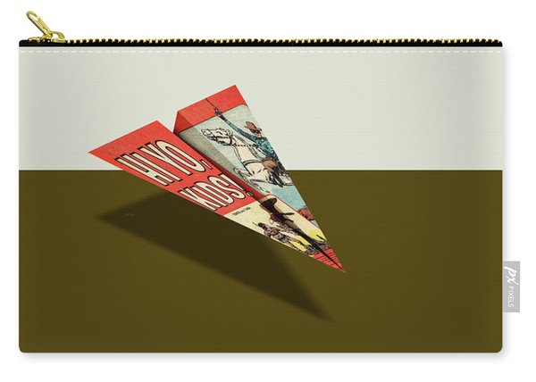 Lone Ranger Hi Yo Kids Comic Book Ad Paper Airplane Carry-all Pouch