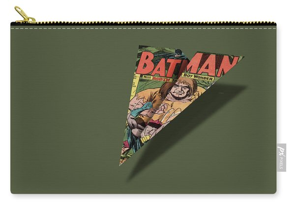 Caped Superhero Page 1 Comic Book Paper Airplane Carry-all Pouch