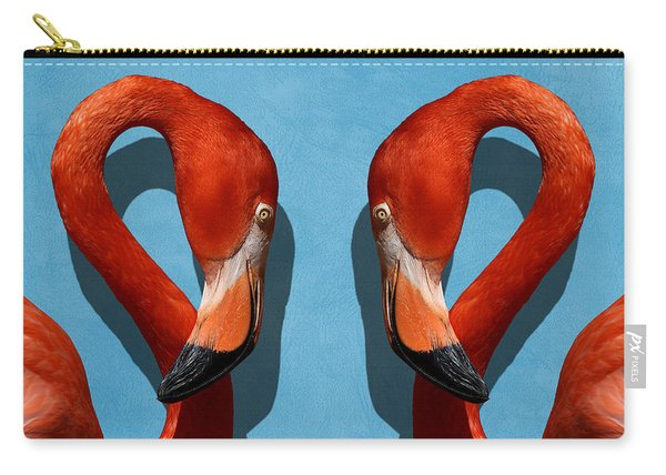 Curves, A Head - A Flamingo Portrait Carry-all Pouch