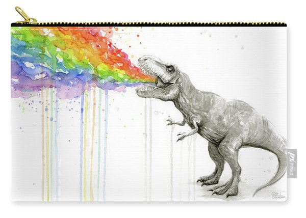 T-rex Tastes The Rainbow Carry-all Pouch