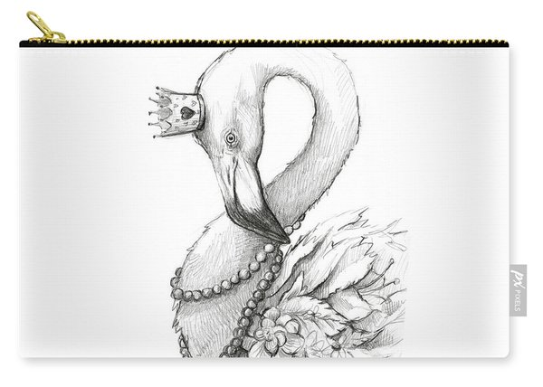 Flamingo In Pearl Necklace Carry-all Pouch