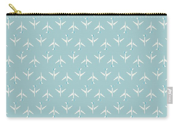 747 Jumbo Jet Airliner Aircraft - Sky Carry-all Pouch